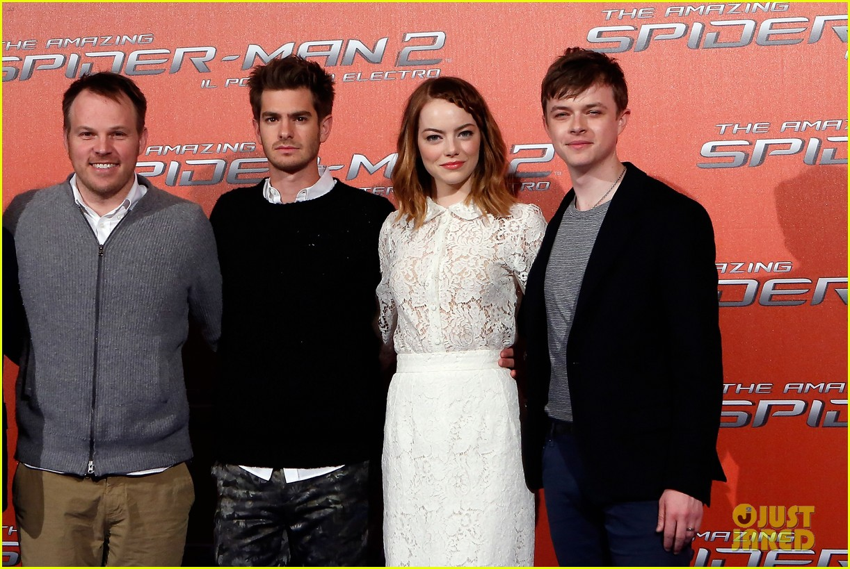 emma stone braids her hair spider man 2 rome photo call 133091756