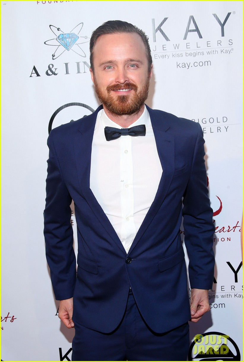 aaron paul wife lauren parksekian open your hearts gala 01