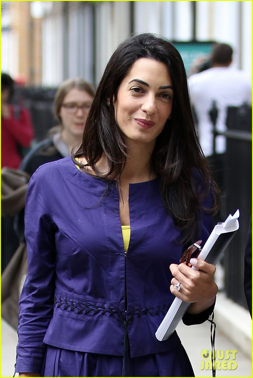 george clooneys fiancee amal alamuddin is back at work 15