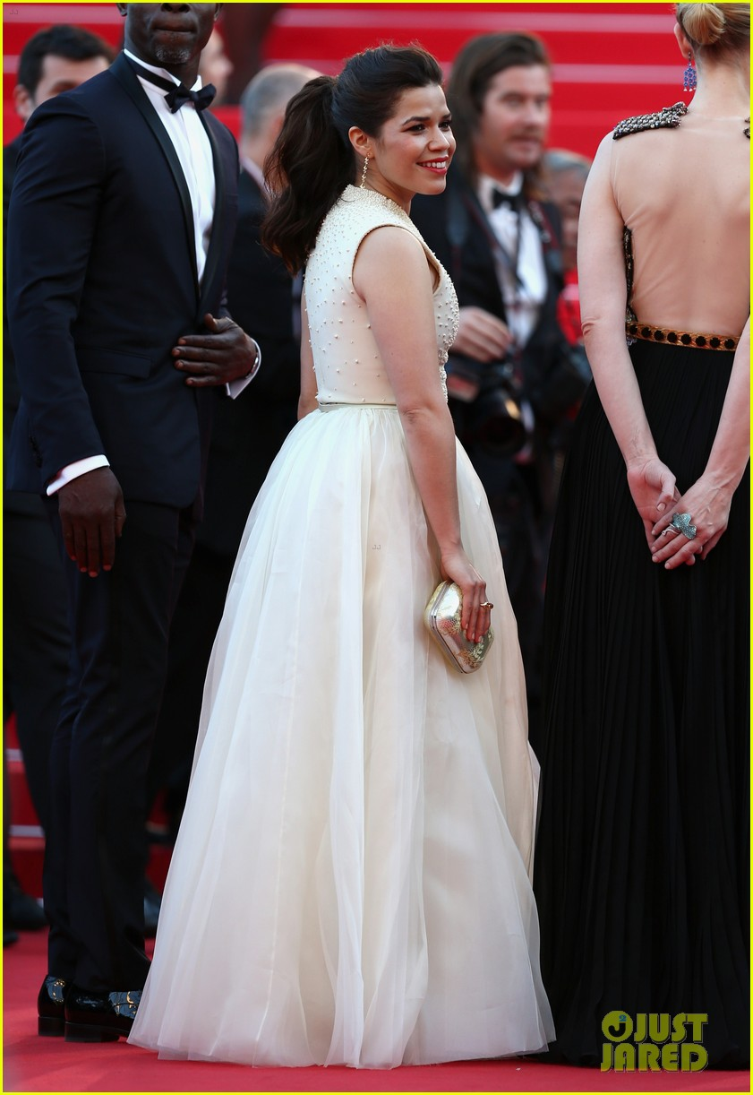 man storms cannes red carpet jumps hides underneath america ferreras dress 05