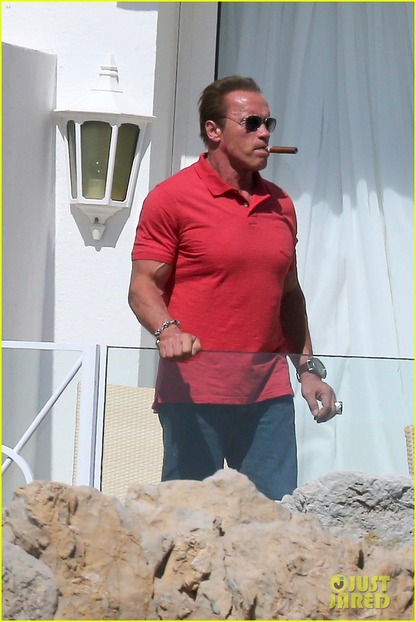 arnold schwarzenegger shirtless buff cannes 063117250
