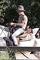 justin bieber shirtless horseback ride 06