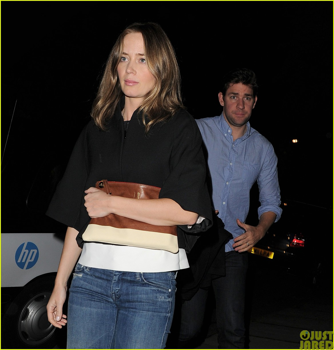 emily blunt and john krasinski hit the town with chris martin and jeremy renner41