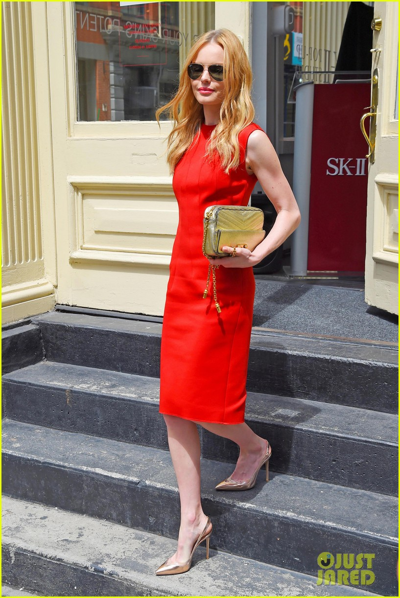 kate bosworth rocks three fashionable dresses for day out in nyc 09