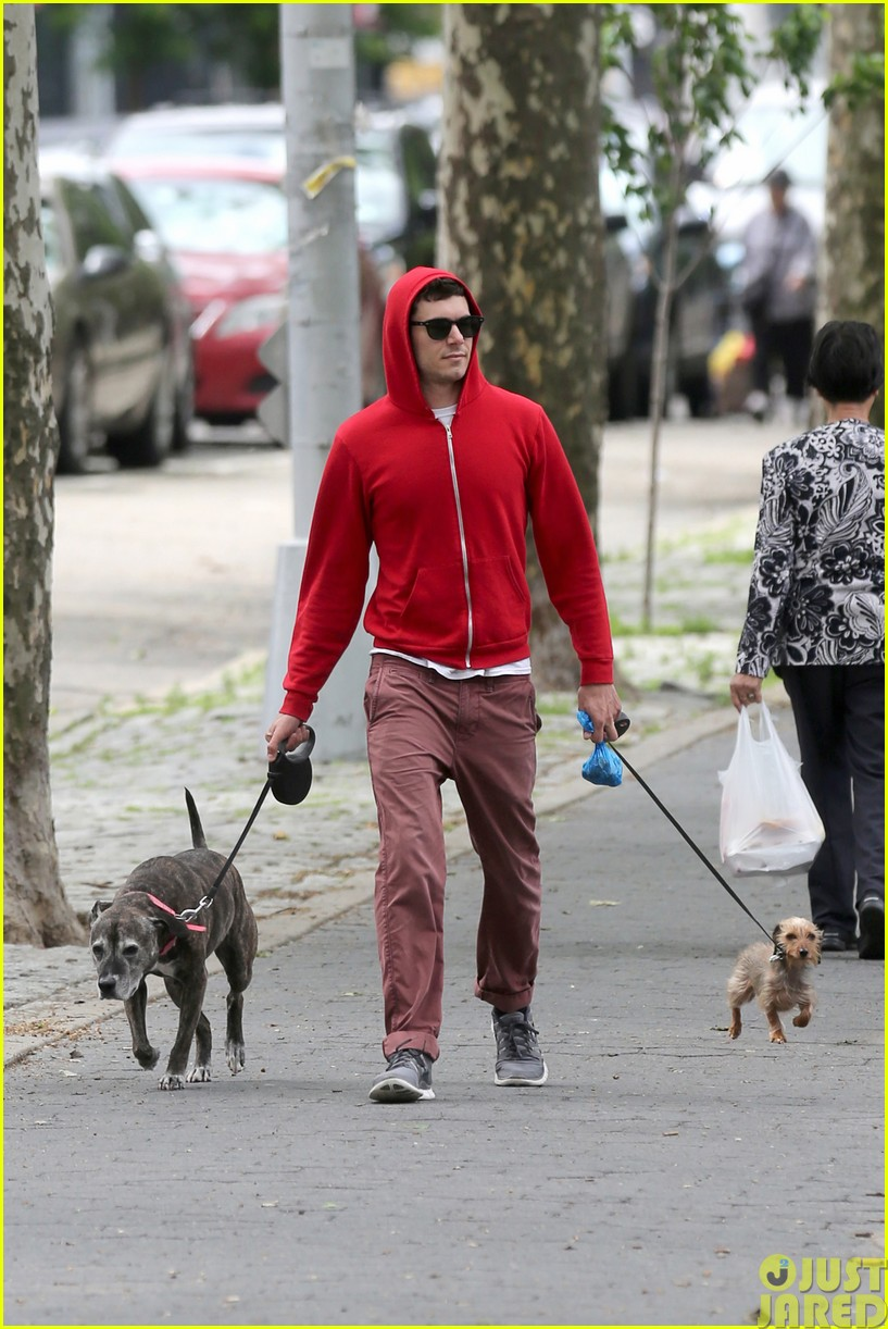 adam brody walks the dogs in his favorite sweatshirt113121668