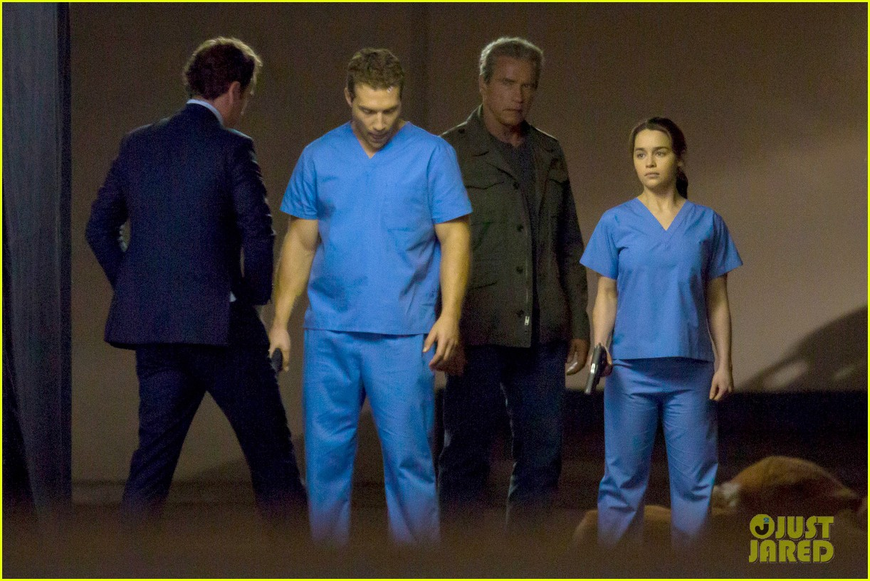 emilia clarke super fierce on terminator genesis set 063124340