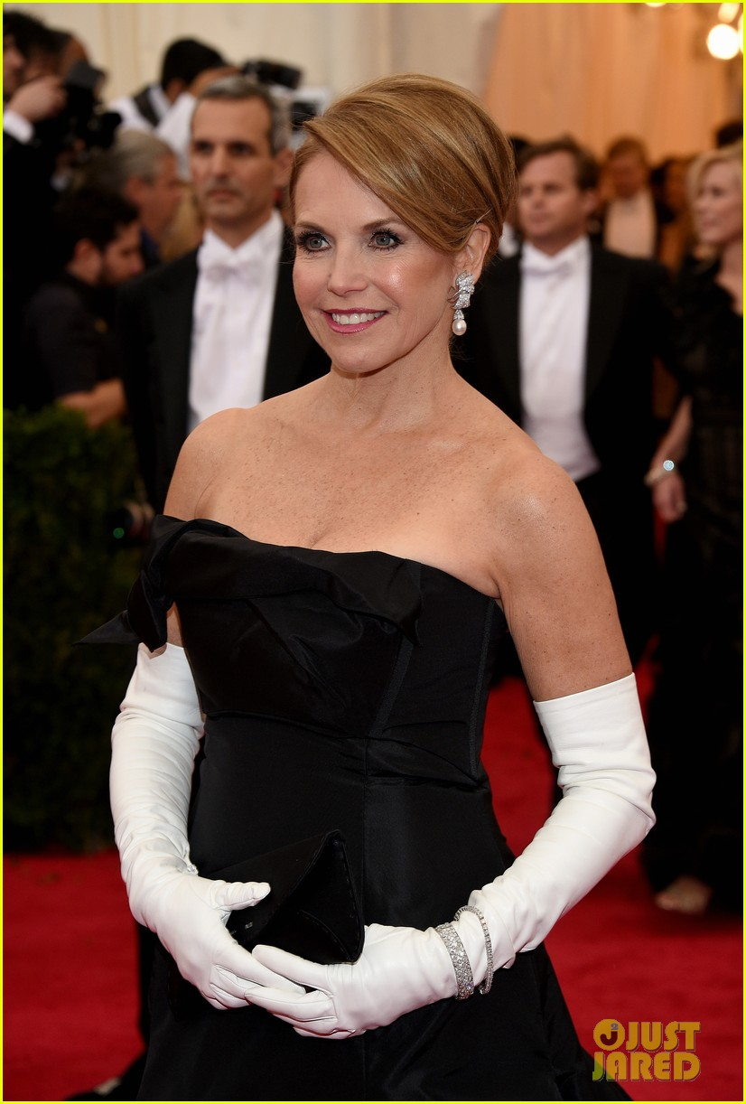 katie couric white glove glam at met ball 2014 013105994