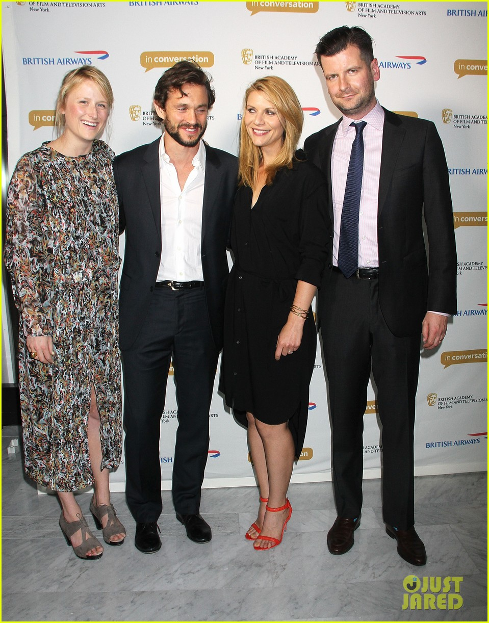 claire danes supports hubby hugh dancy at bafta conversation 02