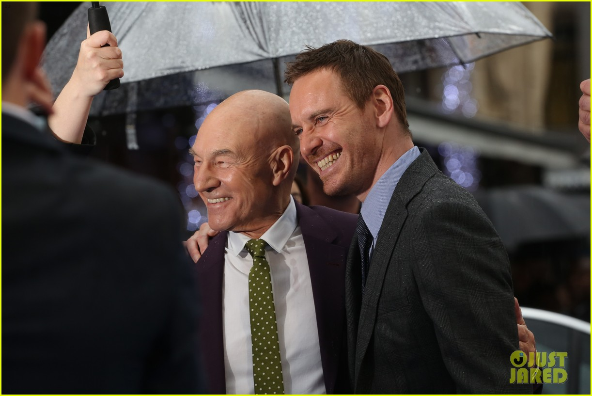 michael fassbender james mcavoy x men london premiere 09