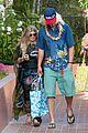 fergie josh duhamel dress up for surfing themed party 08