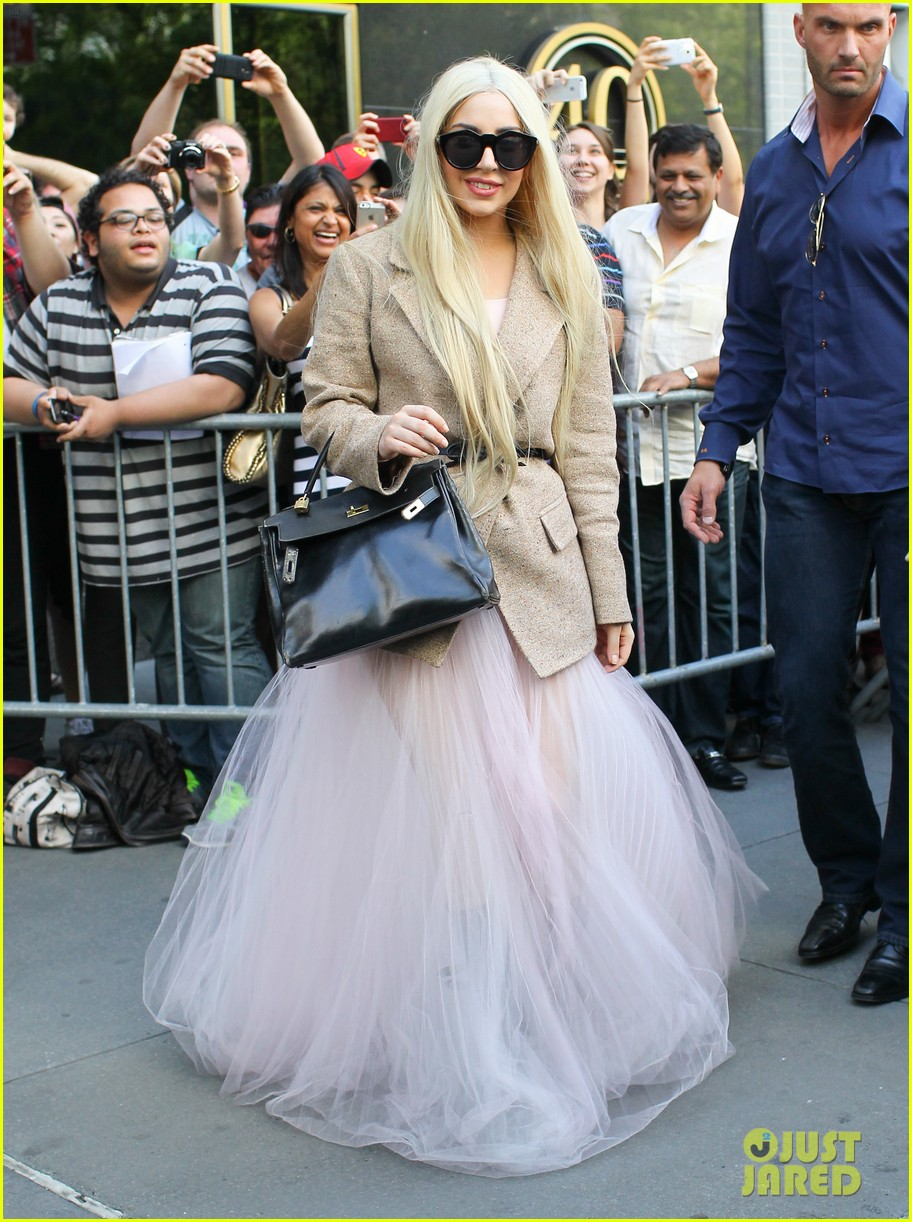 lady gaga sheer gown nyc best day off ever 02