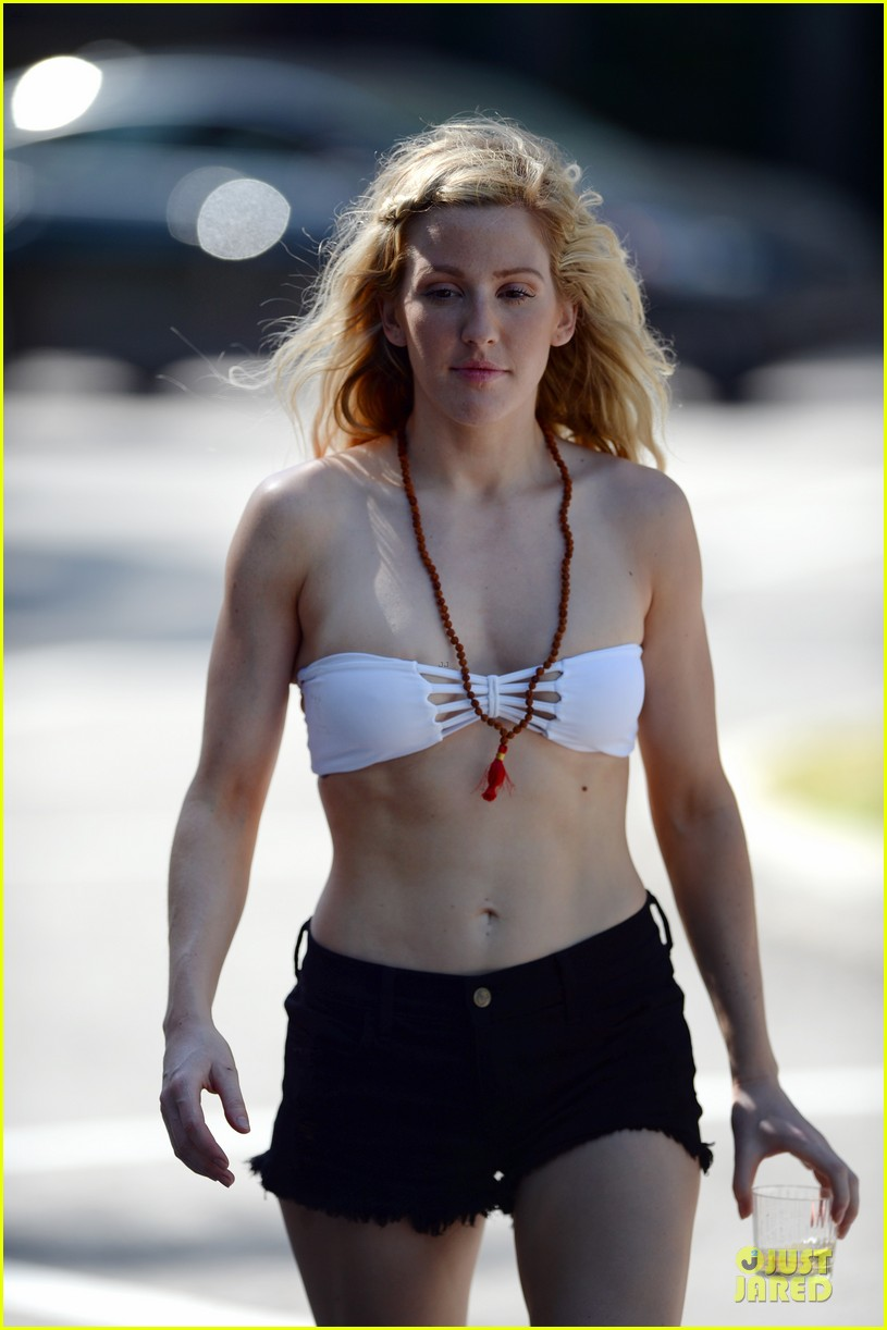 ellie goulding abs in bikini in miami 09