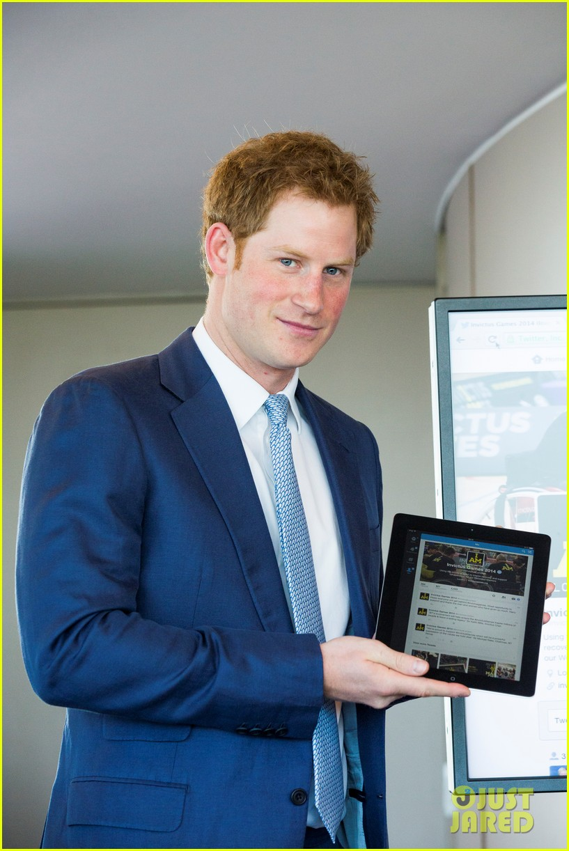 prince harry sends his first tweet ever 073113924