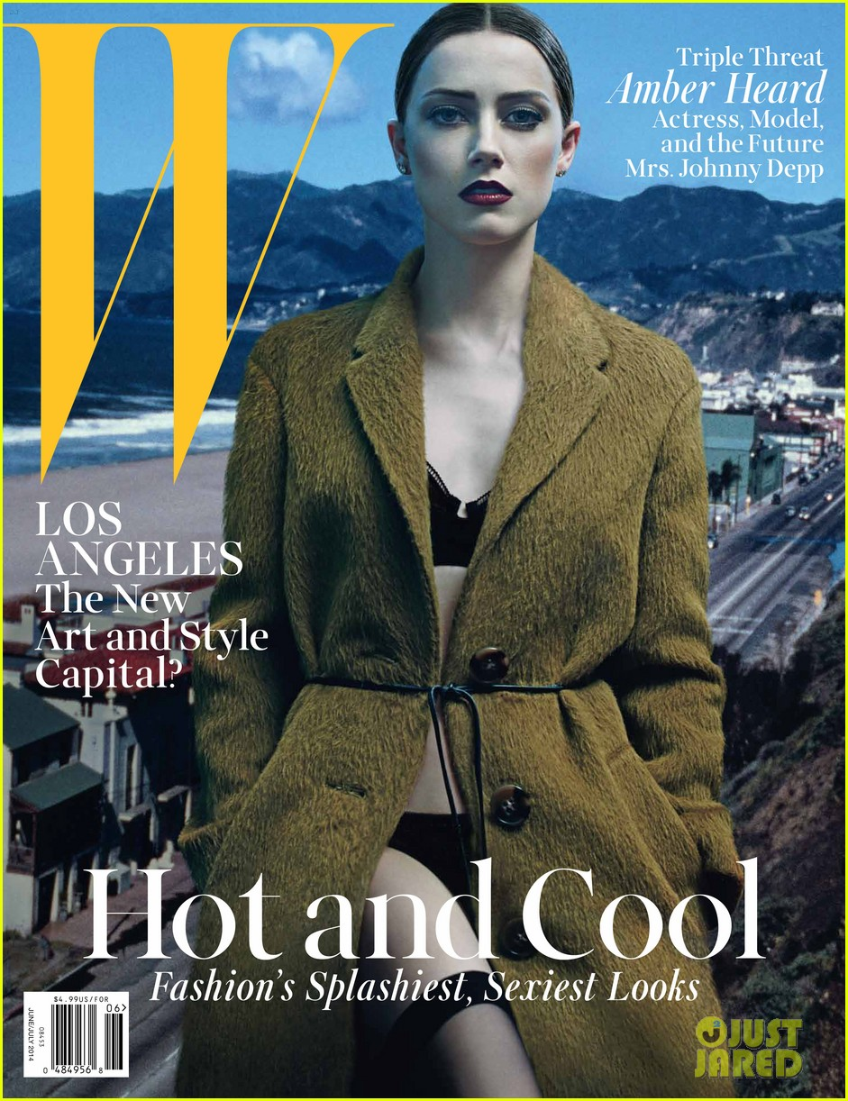 amber heard covers w magazine june 2014 02