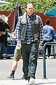 charlie hunnam gets all made up on sons of anarchy set 17