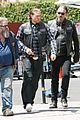 charlie hunnam gets all made up on sons of anarchy set 22