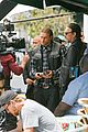 charlie hunnam gets all made up on sons of anarchy set 25