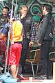 charlie hunnam gets all made up on sons of anarchy set 29