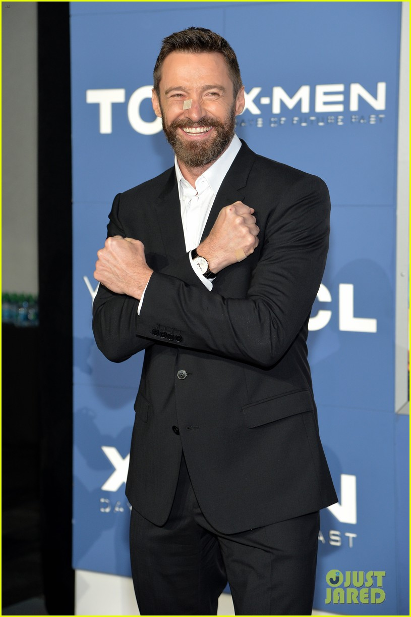 hugh jackman wears bandage on nose to x men premiere 193110330