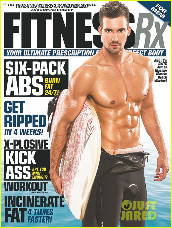 james maslow washboard abs fitness rx cover 03