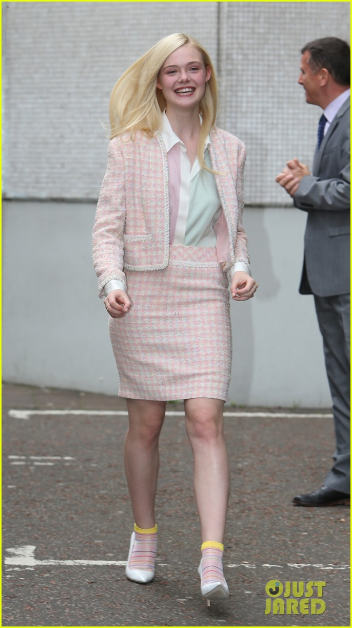 angelina jolie elle fanning are lovely in white at maleficent london 113109294
