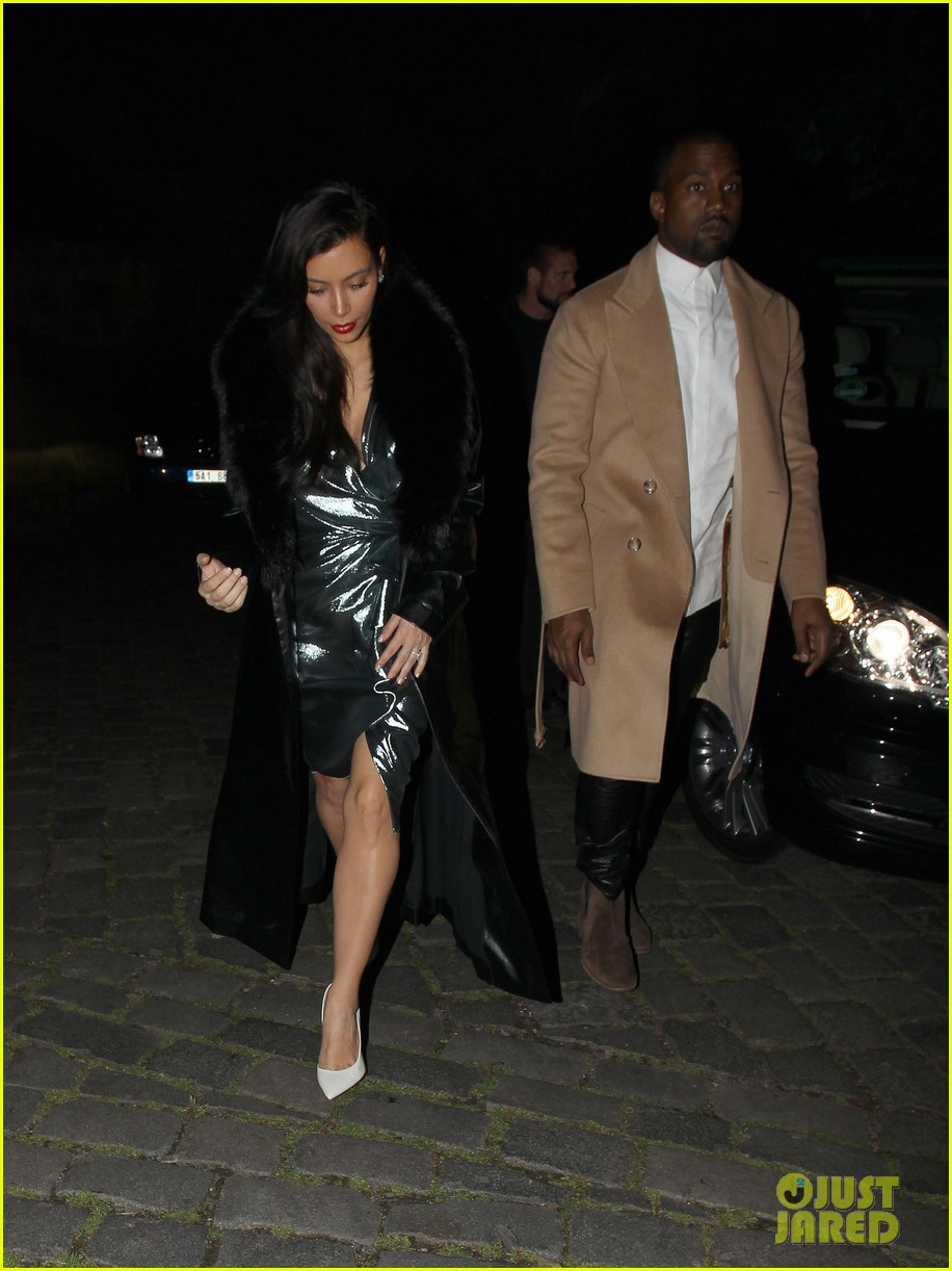 kim kardashian wears flashy dress for honeymoon date night 03