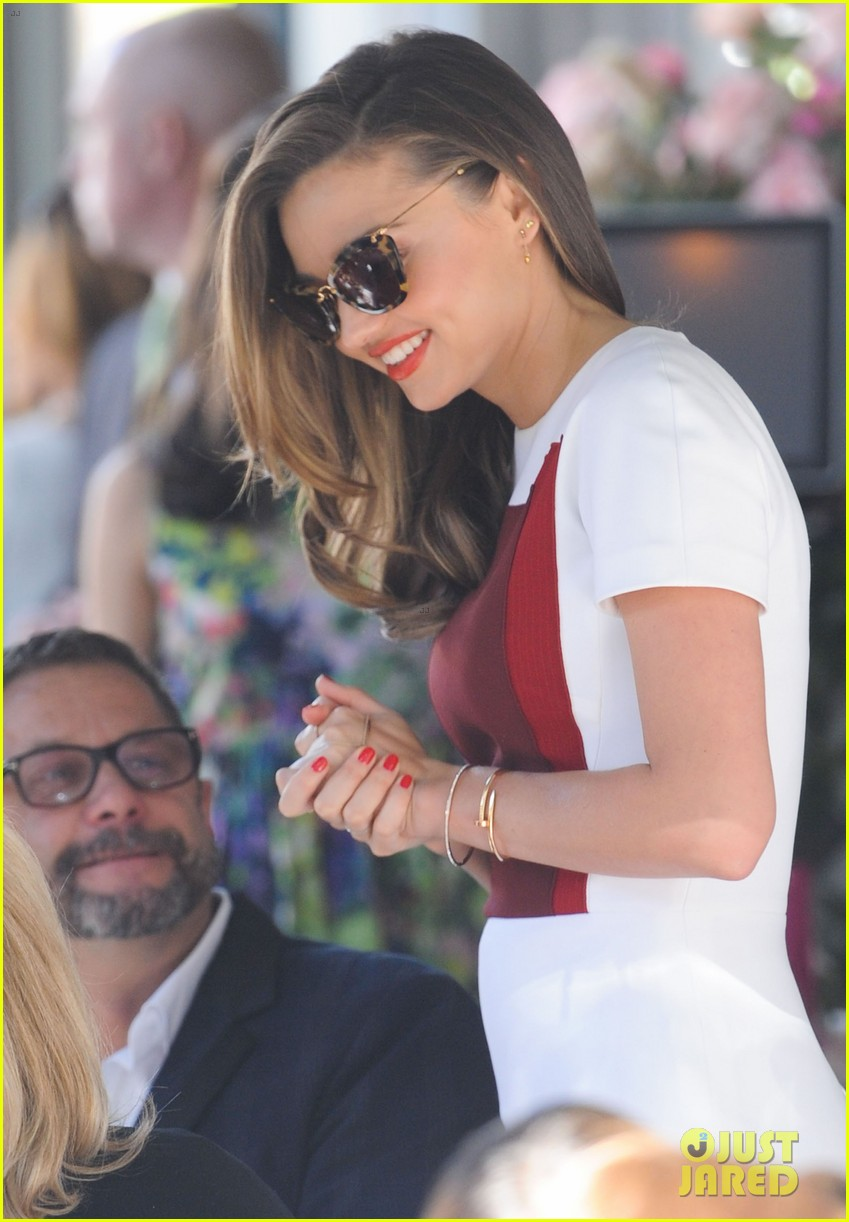 miranda kerr rocks two chic looks to promote her teaware 153114755