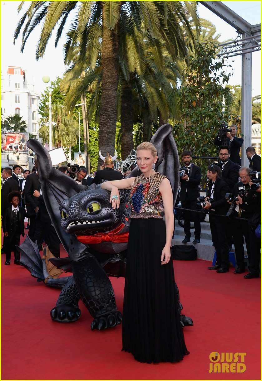 cate blanchett kit harington how to train your dragon 2 cannes premiere 11