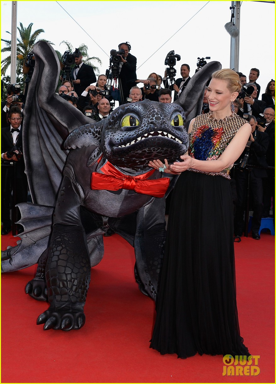 cate blanchett kit harington how to train your dragon 2 cannes premiere 15