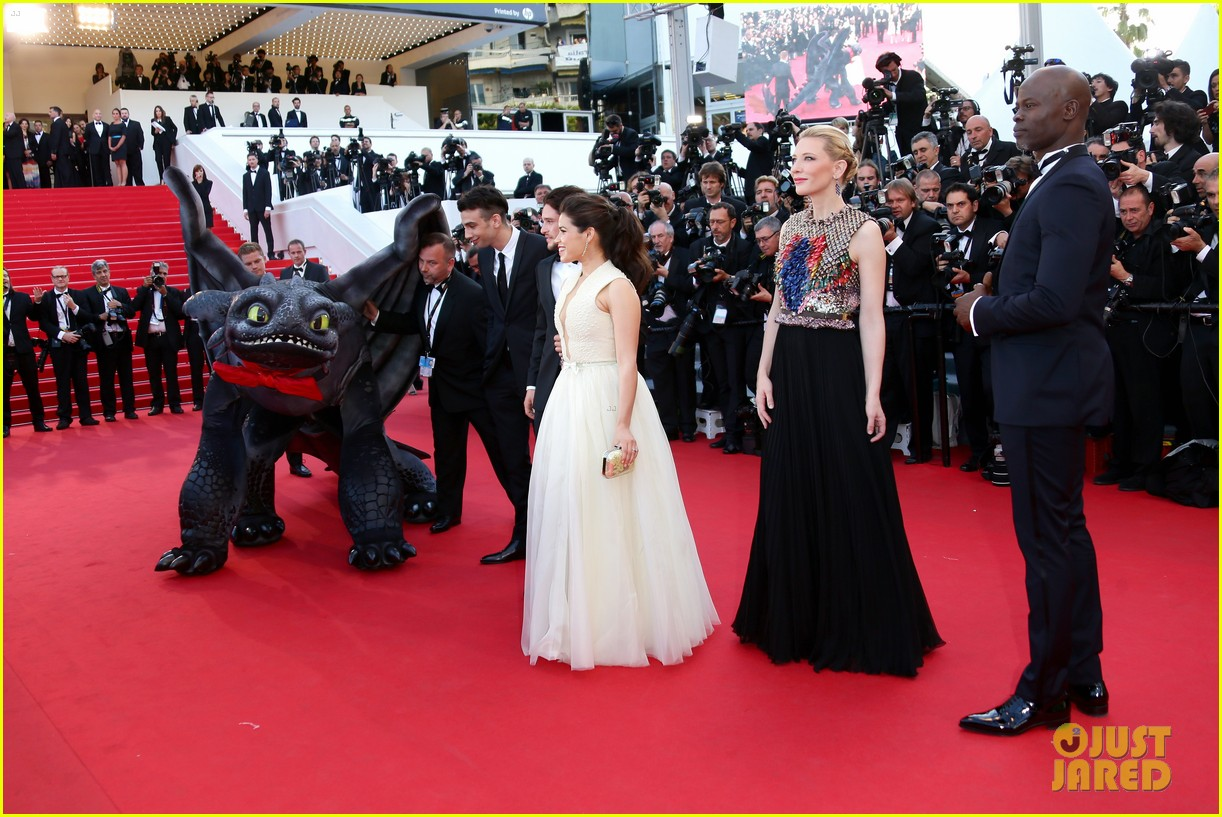 cate blanchett kit harington how to train your dragon 2 cannes premiere 17