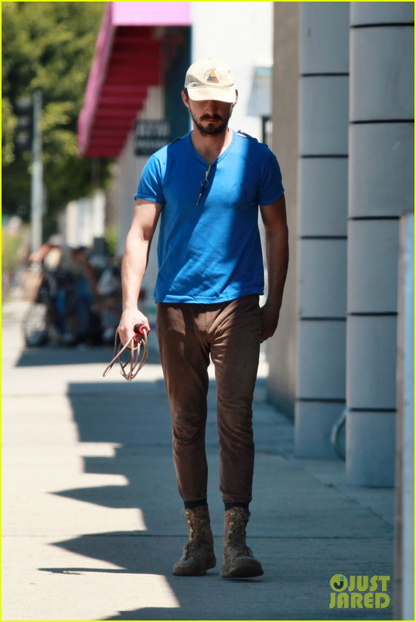 shia labeouf sure is dedicated to the gym these days 103104379