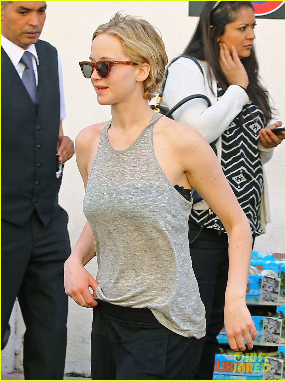 jennifer lawrence hunger games guys step out at cannes 01