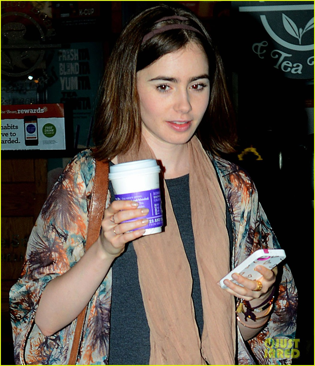 lily collins announced new fall face barrie knitwear 03