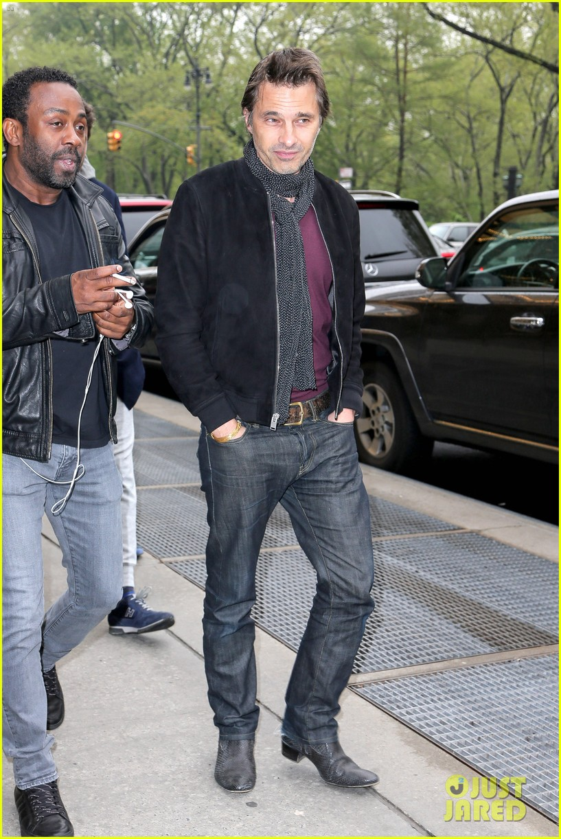 olivier martinez steps out in new york for ae upfronts 04