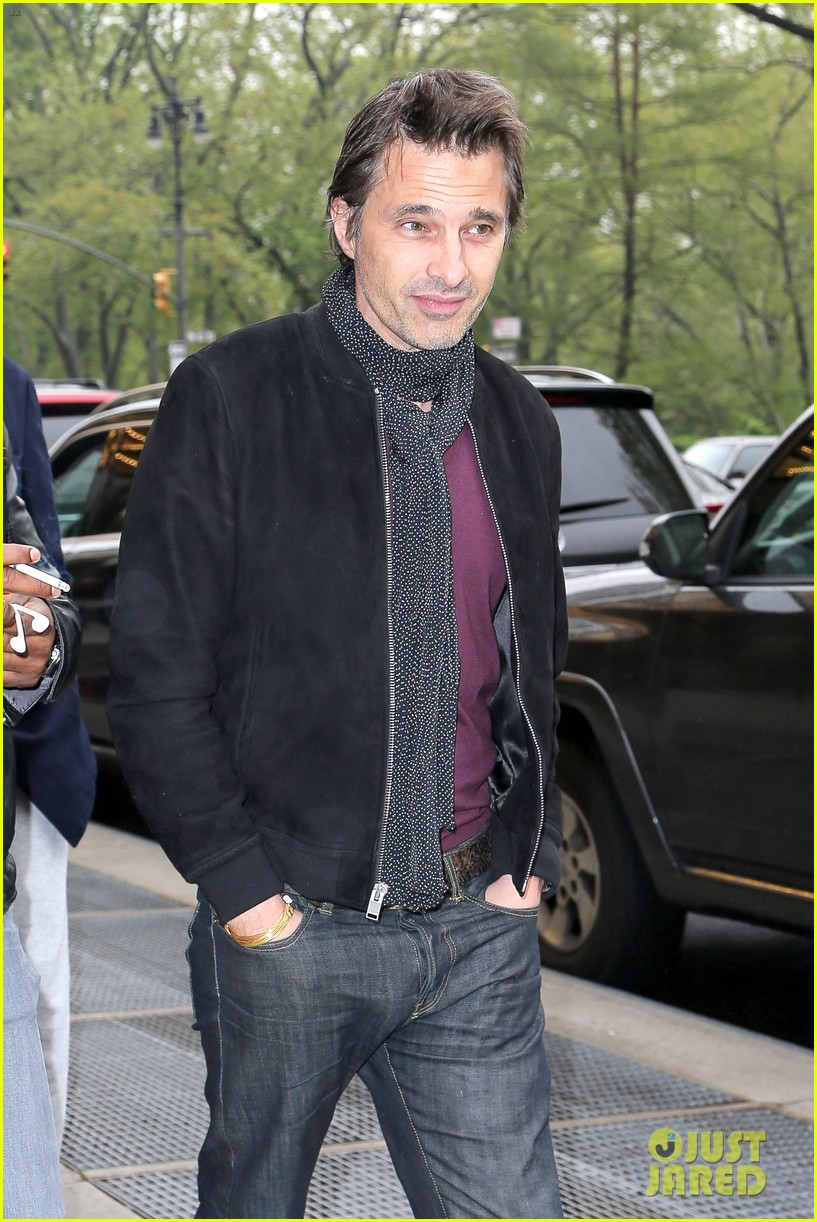 olivier martinez steps out in new york for ae upfronts 05