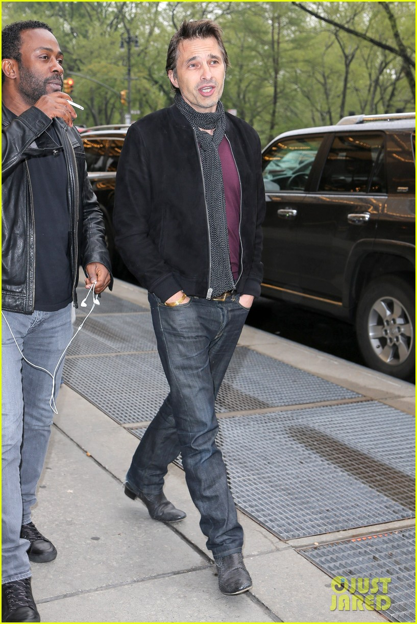 olivier martinez steps out in new york for ae upfronts 11