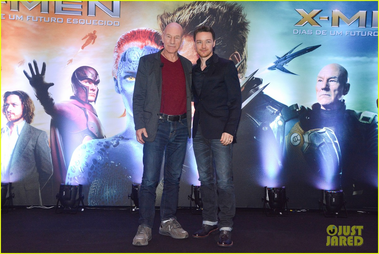 james mcavoy joins patrick stewart in sao paulo for x men press 09
