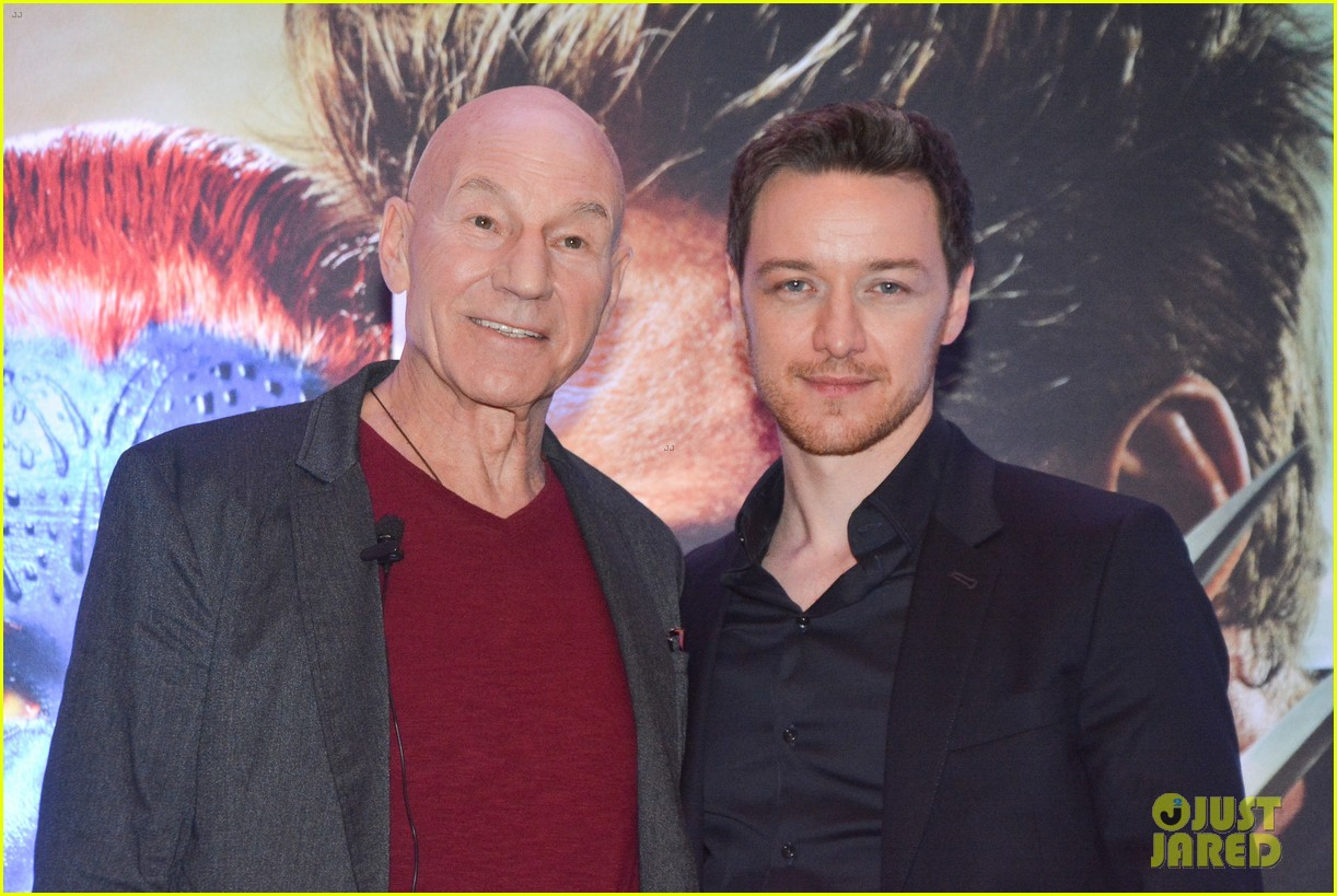 james mcavoy joins patrick stewart in sao paulo for x men press 133113899