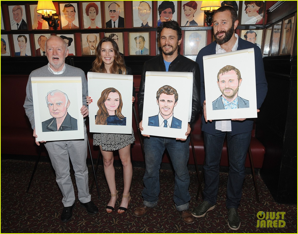 leighton meester james franco get caricatures at sardis 133119452