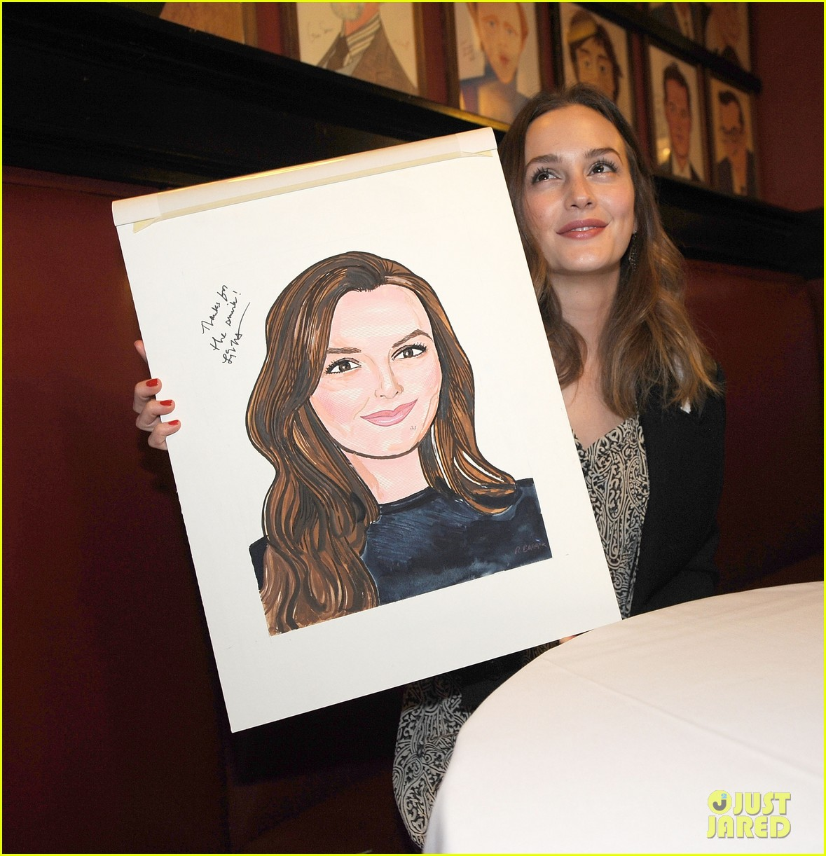 leighton meester james franco get caricatures at sardis 14