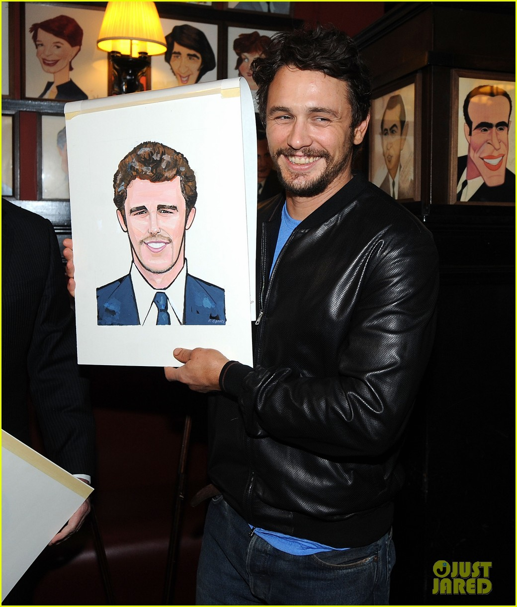 leighton meester james franco get caricatures at sardis 16