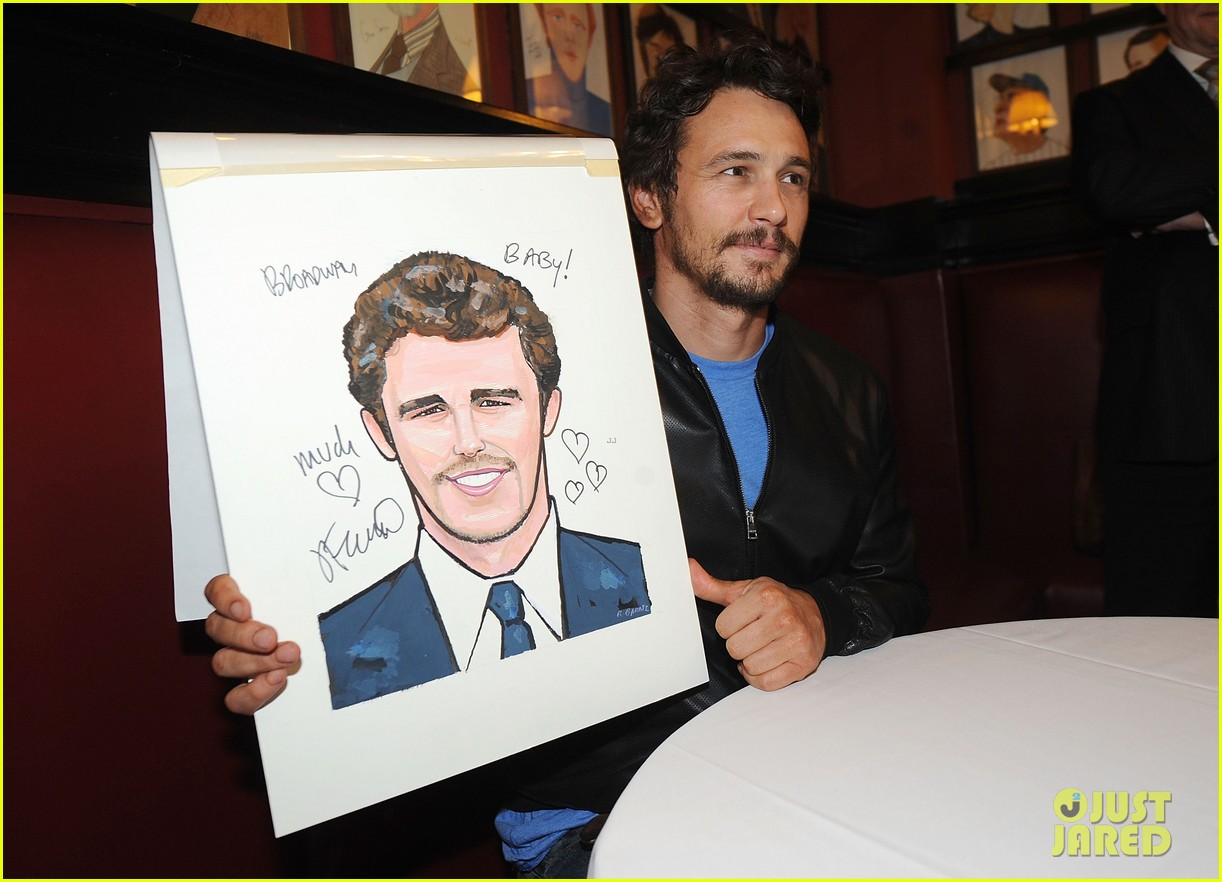 leighton meester james franco get caricatures at sardis 233119462