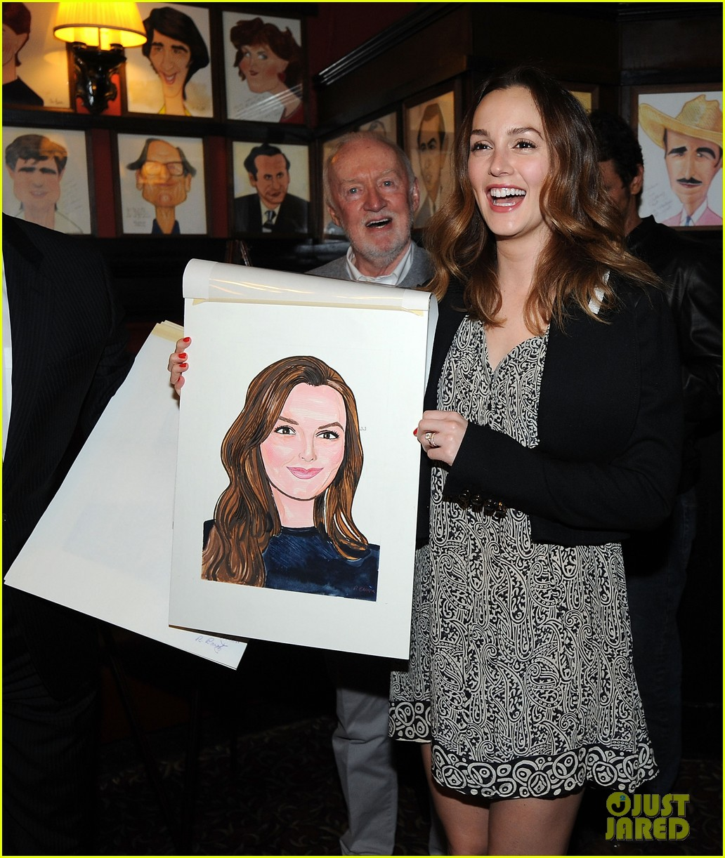 leighton meester james franco get caricatures at sardis 253119464