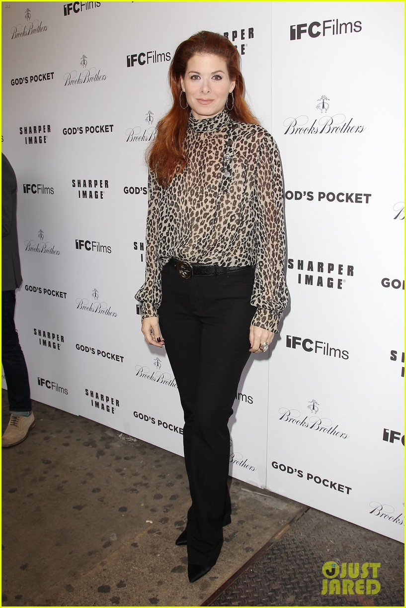 debra messing shows her support for philip seymour hoffman at gods pocket screening 01