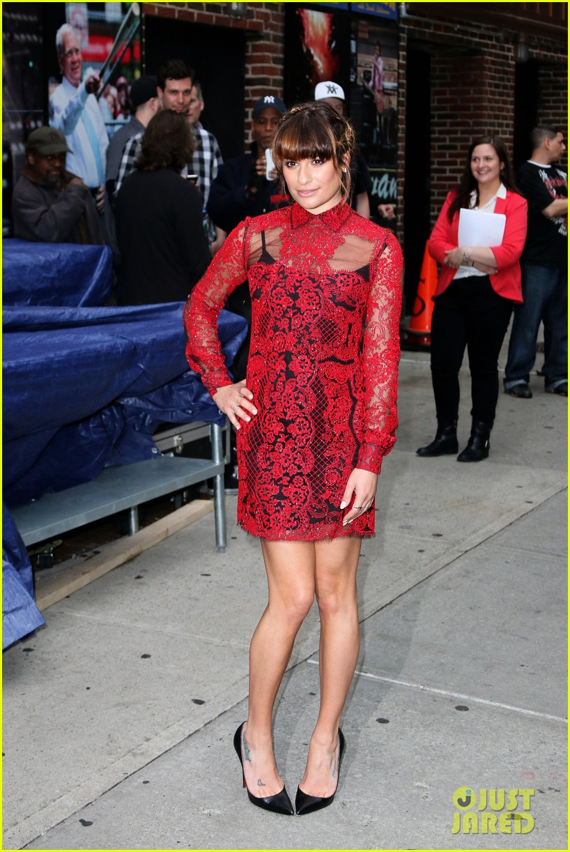 lea michele late show with david letterman 03