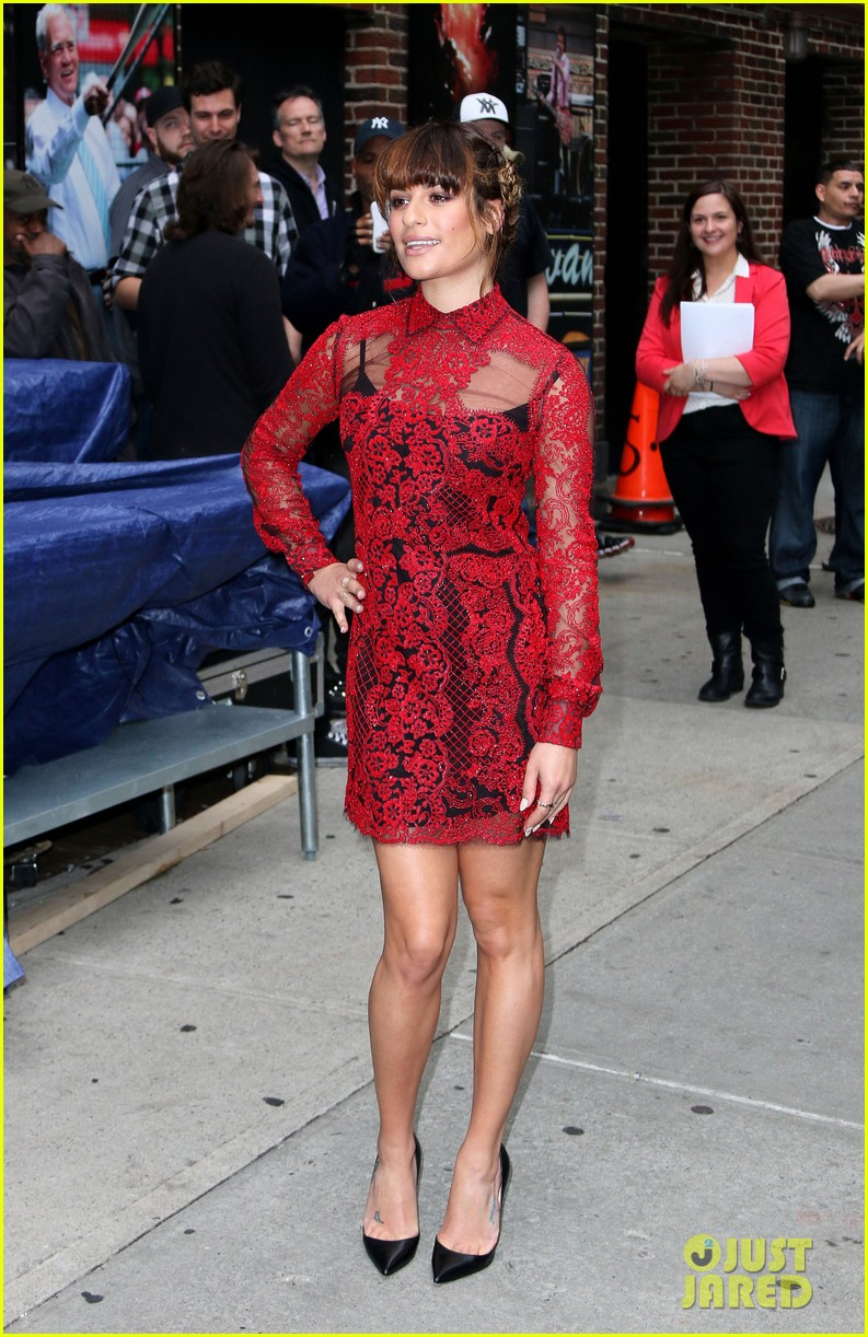 lea michele late show with david letterman 093114454