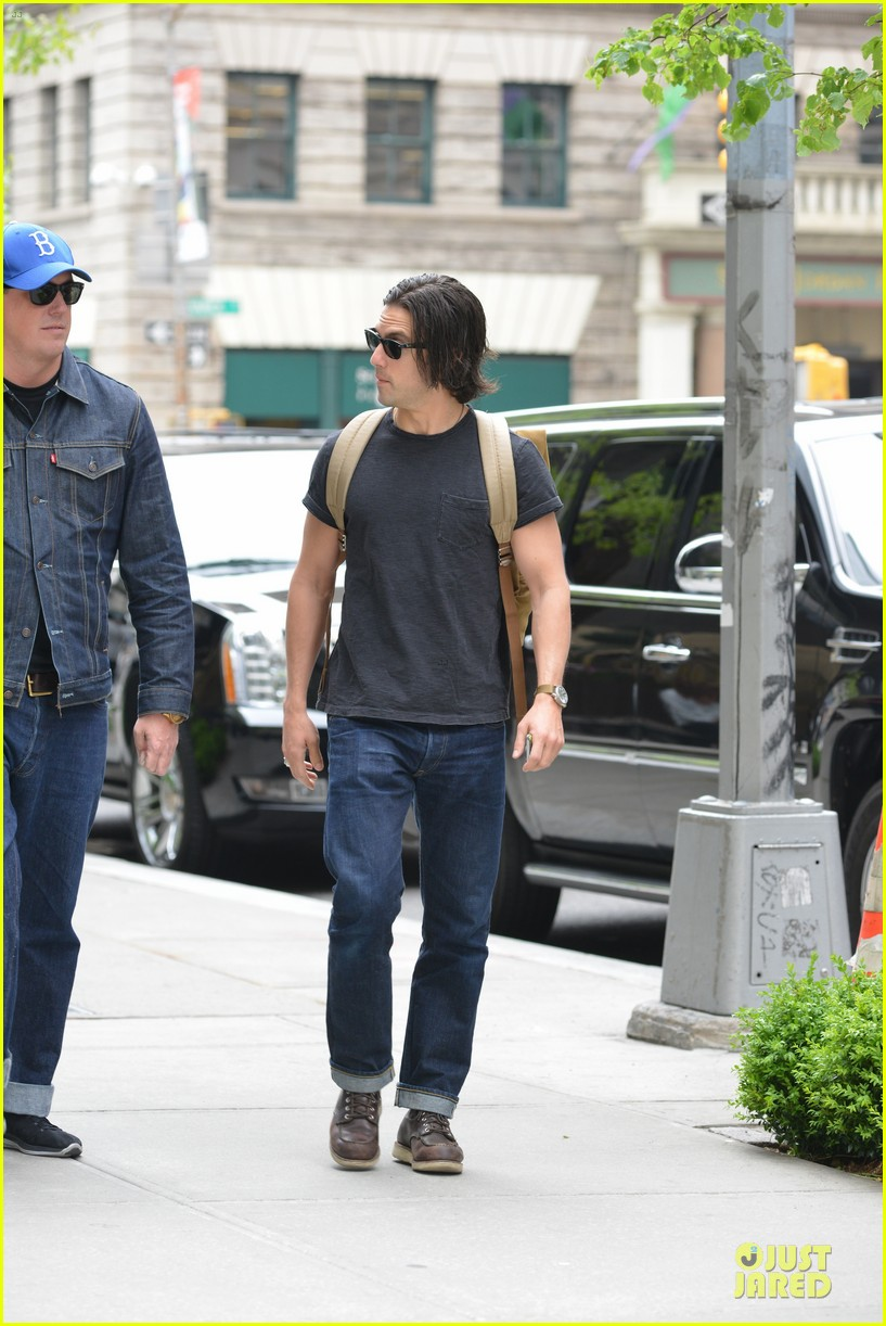 milo ventimiglia muscles in a tee in nyc 103115318