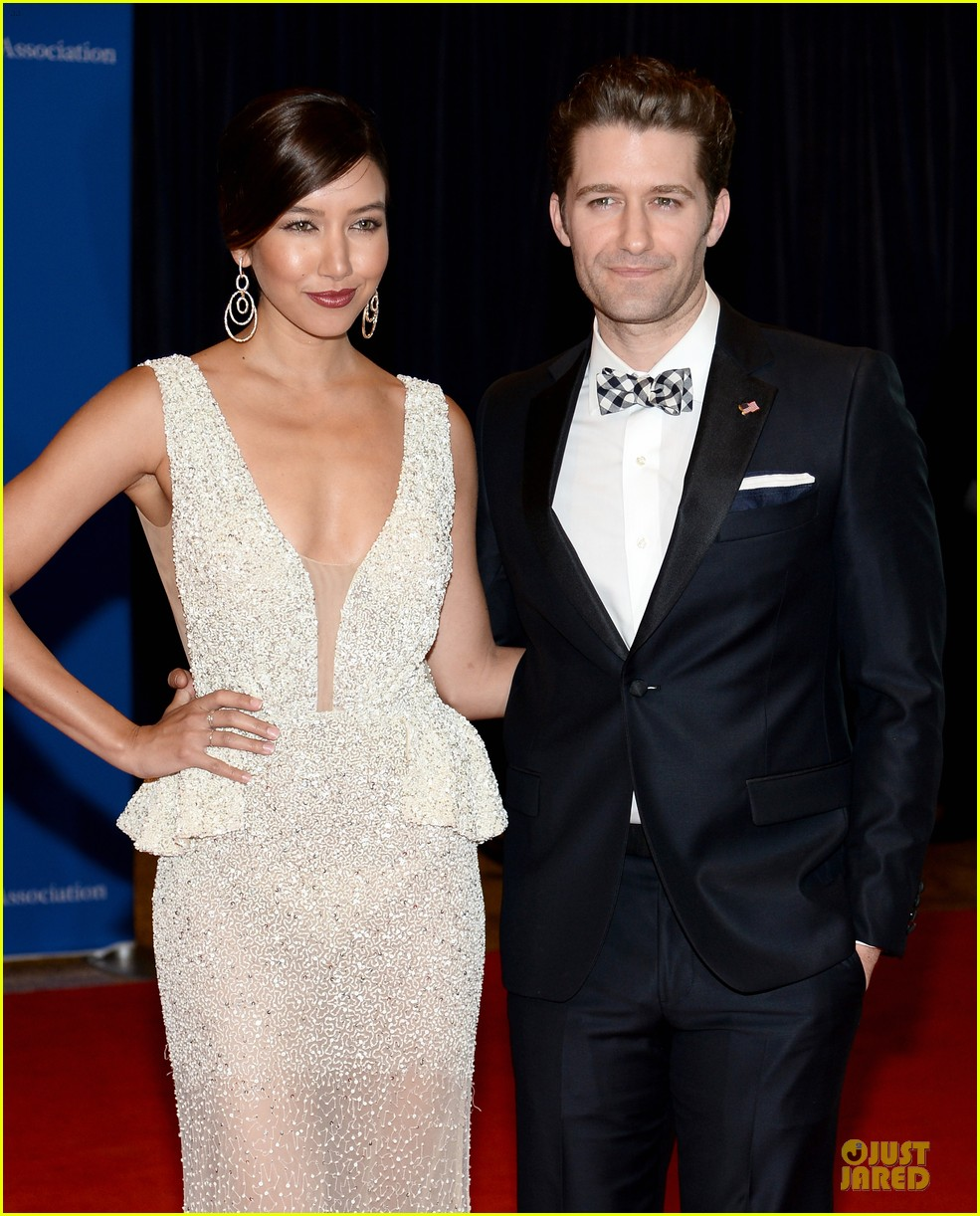 matthew morrison renee puente white house correspondents dinner 2014 08