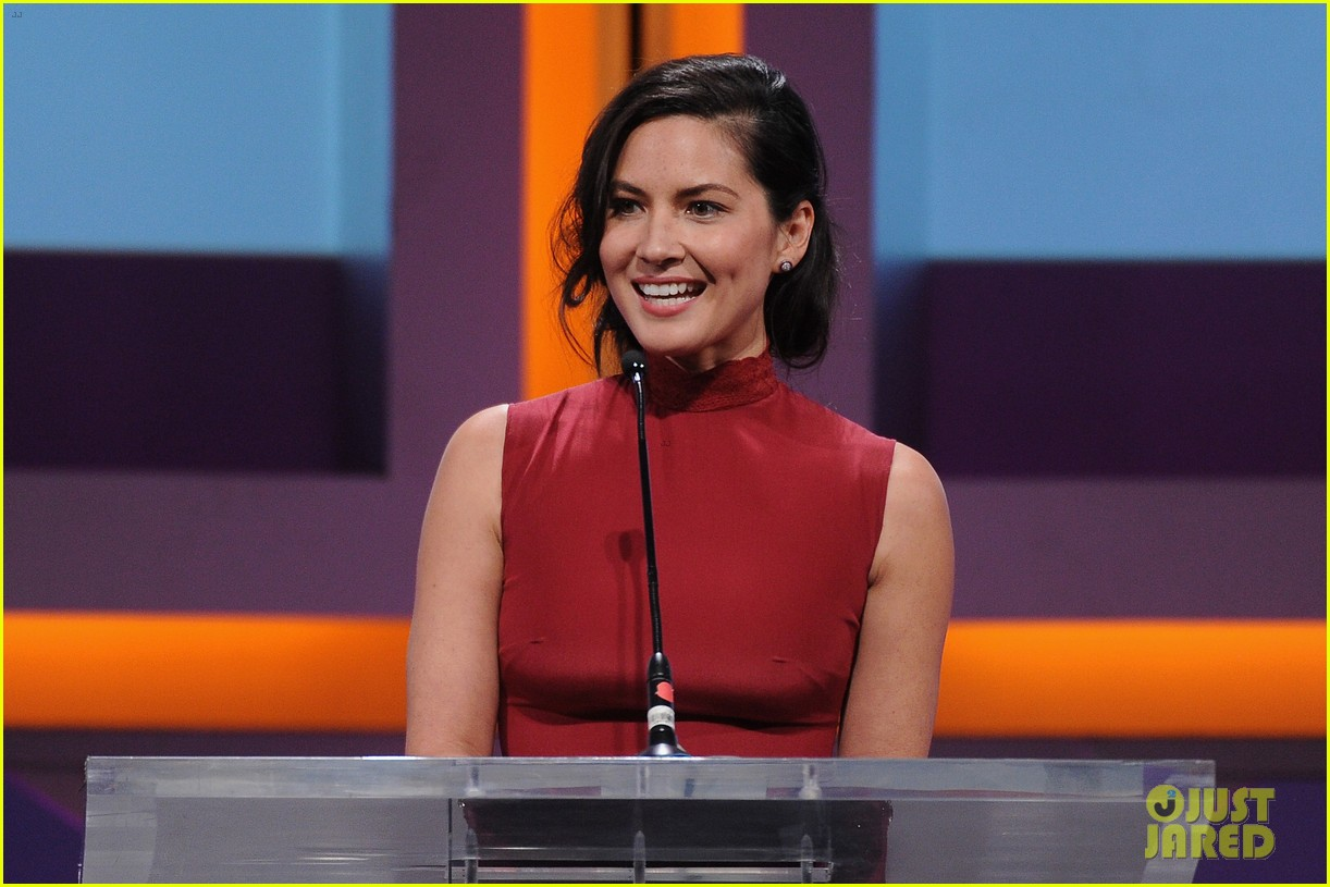 olivia munn presents award to dana white sports spec gala 083117227