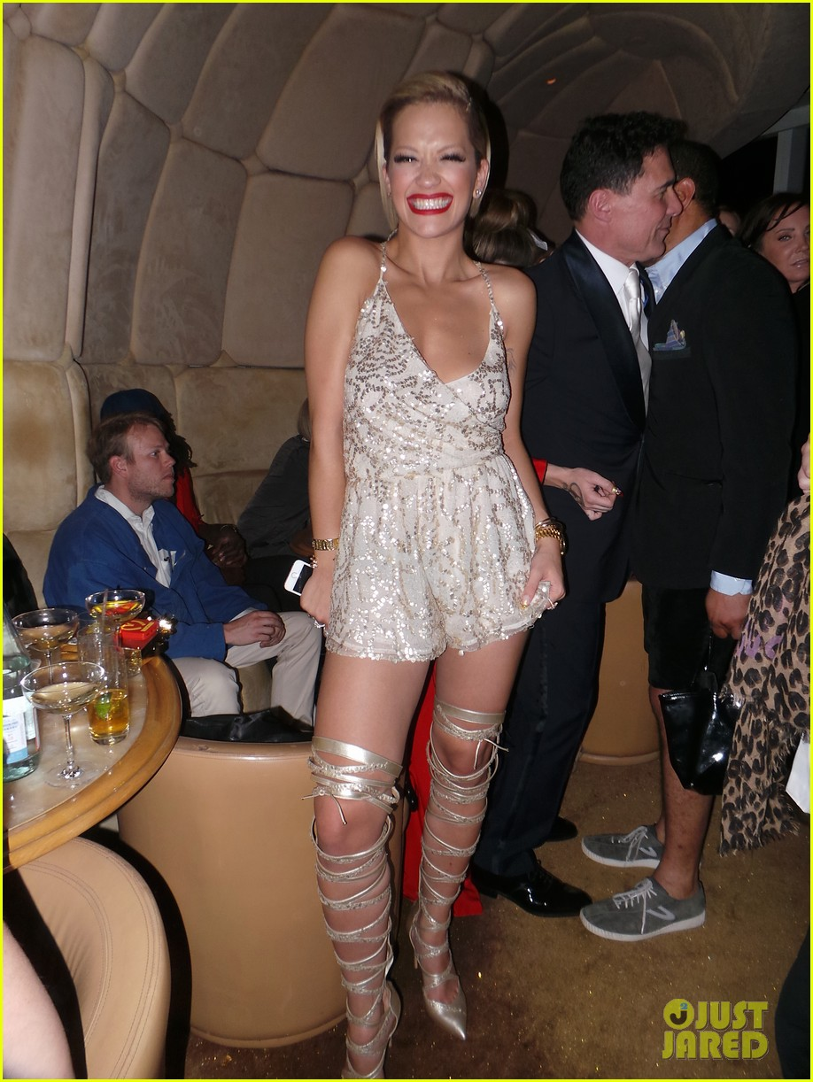 rita ora puts on a short dress funky heels for met ball after party 2014 013106862